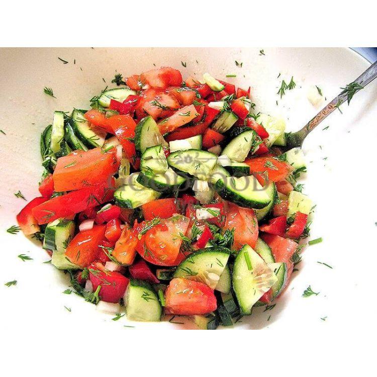 Простые рецепты салатов из овощей с фото